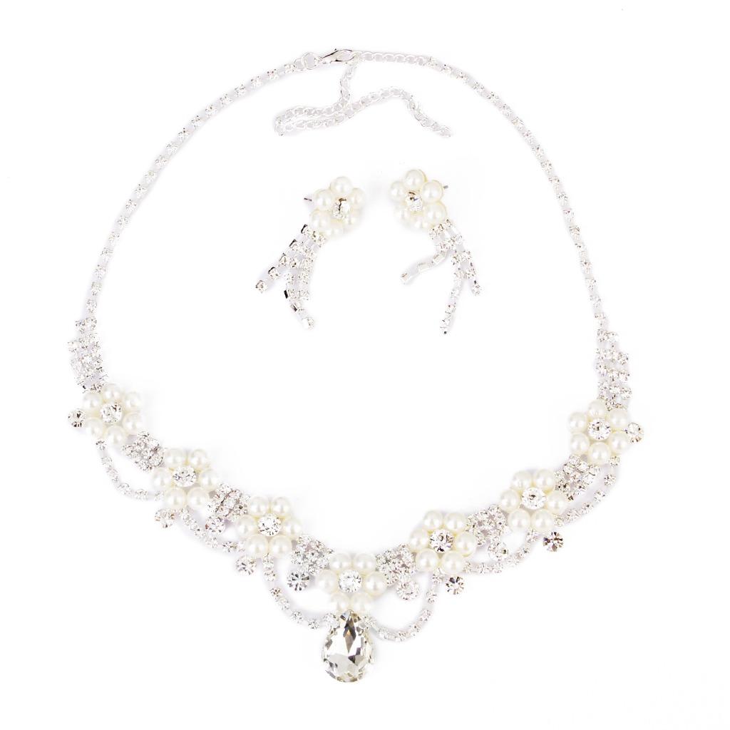 ae8e076f9461 Boda Nupcial De La Joyería De Perlas De Diamantes De Imitac ...