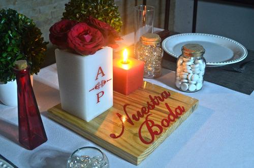 boda piezas centro mesa