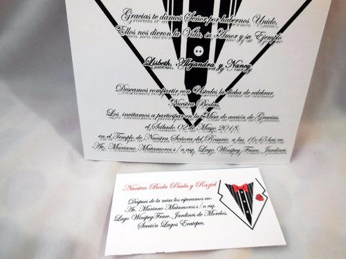 boda tarjeta invitacion