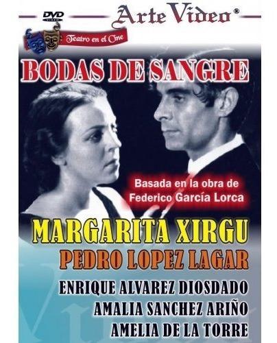 bodas de sangre- margarita xirgu- p. l. lagar - dvd original