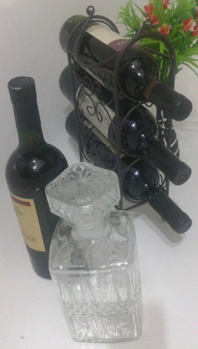 bodega de hierro para 3 botellas exclusiva super oferta!