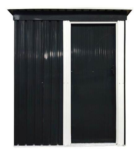 bodega de jardín garage negro 181x162x86cm r5913