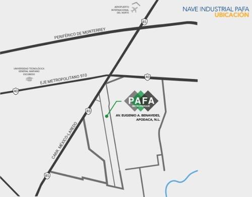 bodega industrial en parque industrial jardín de monterrey i, apodaca