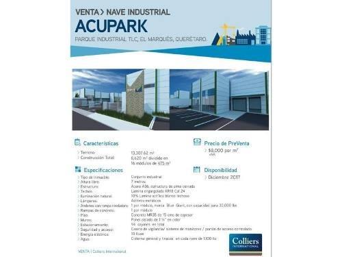 bodega industrial en venta acupark
