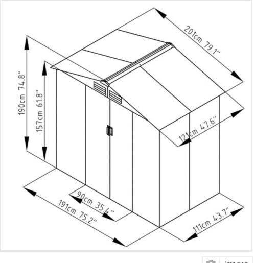 Bodega jard n 201x121x190 cm ergo nueva en caja 109 for Bodegas de jardin