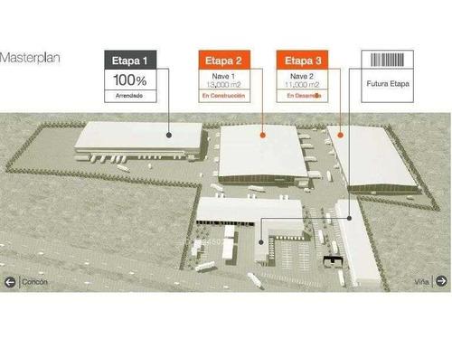 bodegas y servicios en arriendo, segunda etapa en construcción. camino internacional, concón.
