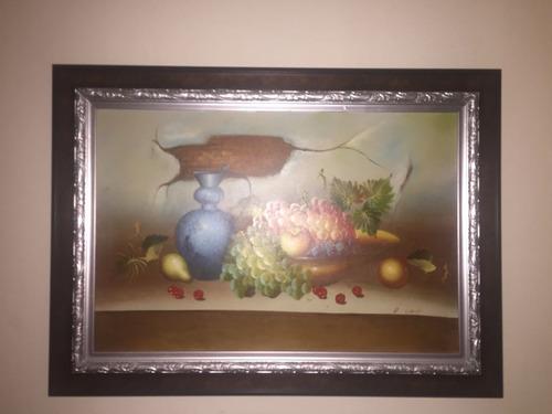 bodegón, cuadro de pintor dominicano, las frutas.