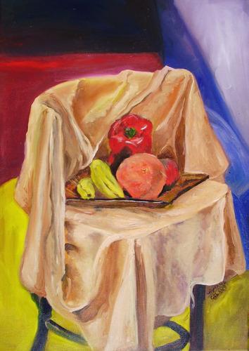 bodegones en cuadros al óleo- colores varios-medidas 70x60cm