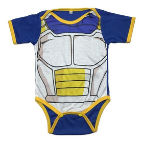 Bodie Body Mameluco Bebe Superheroes Vegeta Dragon Ball