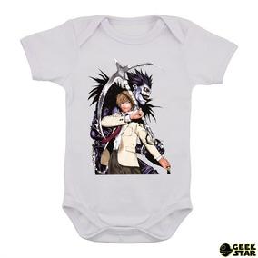 cd076cb3c Body Infantil Death Note Anime Geek Bebê Otaku Kira L 3