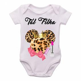 e468e09955d84 Body Infantil Roupa Bebê Nenê Tal Mãe Tal Filha Kit 2 Peças