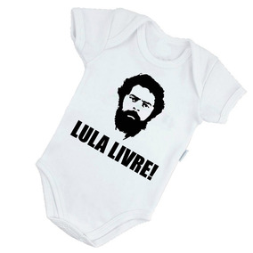 8ca6a4804 Body Infantil Bebê Lindo Lula Livre Brasil Presidente B157br