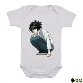 df166a033 Body Infantil Death Note Anime Geek Bebê Otaku Kira L 5