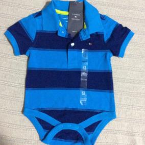 0d1954c531657 Tommy Hilfiger Bebe Body Estilo Camisa Polo Listrado 6-9 M!!