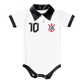 69114ae0ce34e Body Do Corinthians Torcida Baby Polo Camisa 10 Branco