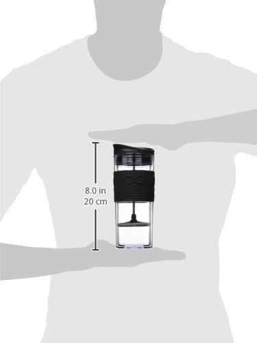 bodum aisló la taza plástica del café y del té de la prensa