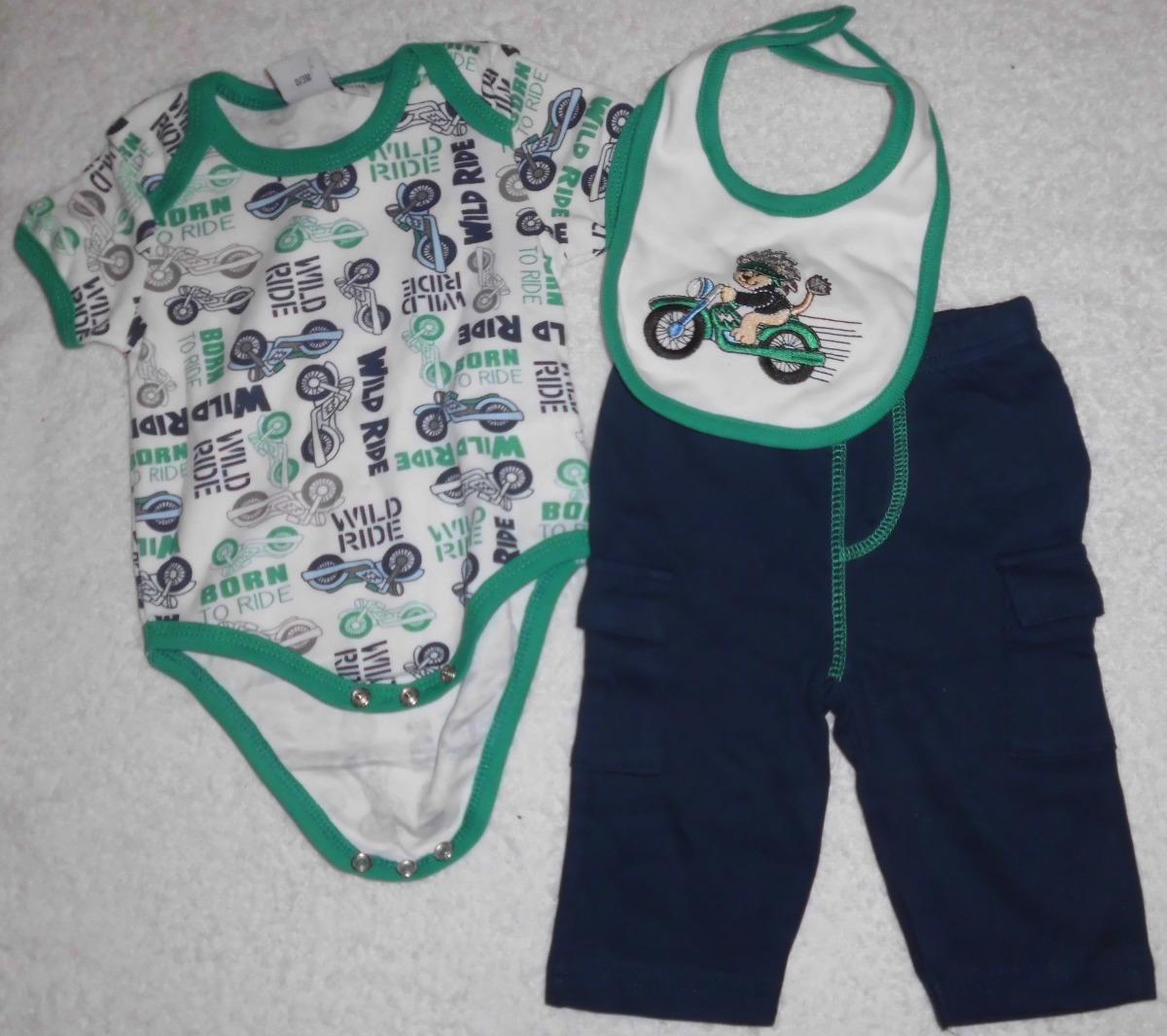 1708709ce10 body babero y pantalon mono moto verde ropa bebe niña niño. Cargando zoom.