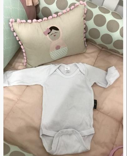 body baby suedine manga curta 03 unidades