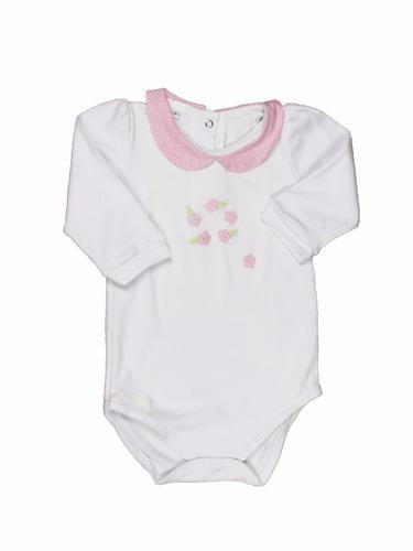 body bebê colarinho manga comprida algodão