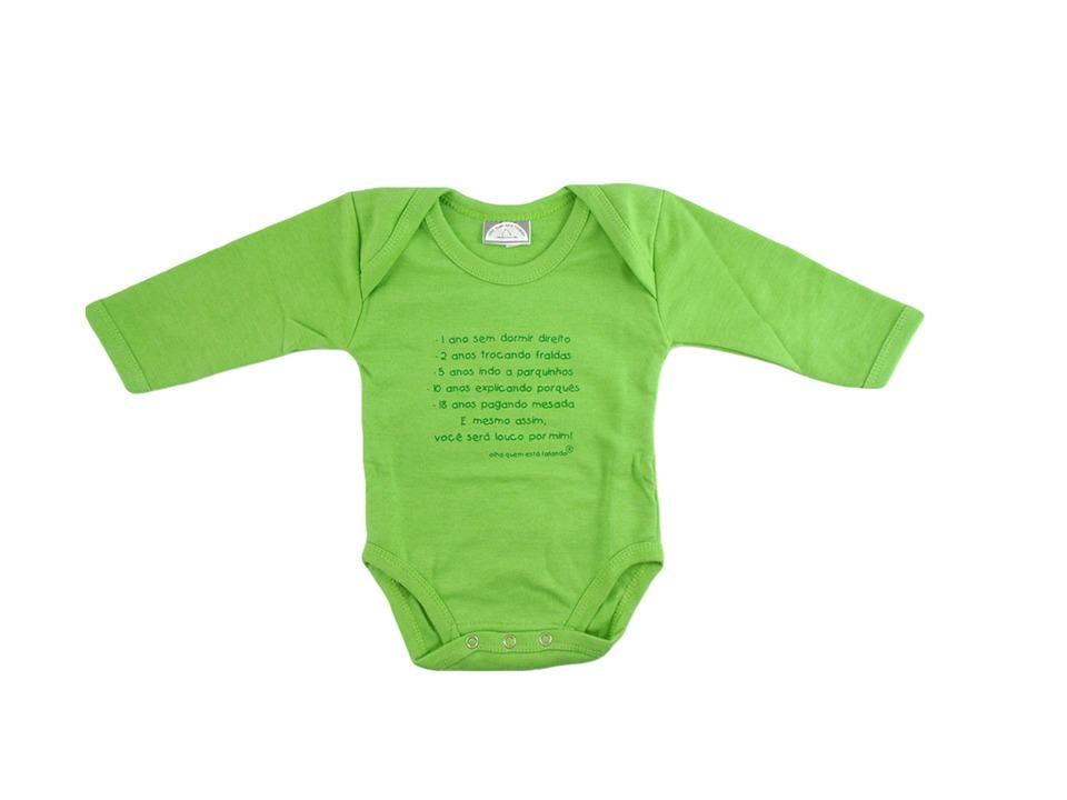 Body Bebê Divertido Frases Louco Por Mim Tam 0 3 Meses R 1000