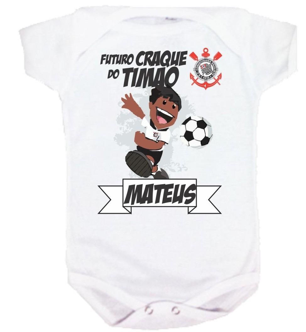 body bebê e camiseta infantil - corinthians - personalizada. Carregando  zoom. 4df5818f39445