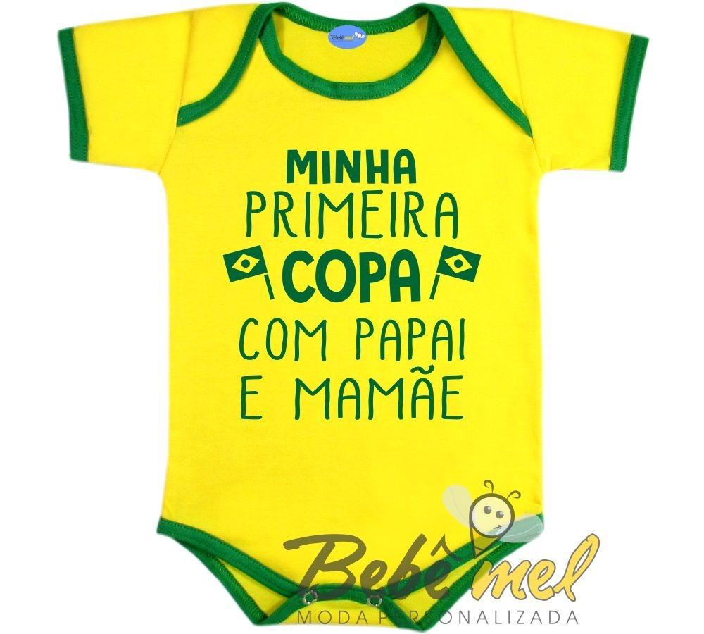 Body Bebê Frase Primeira Copa Do Mundo Brasil 2018 R 3990 Em