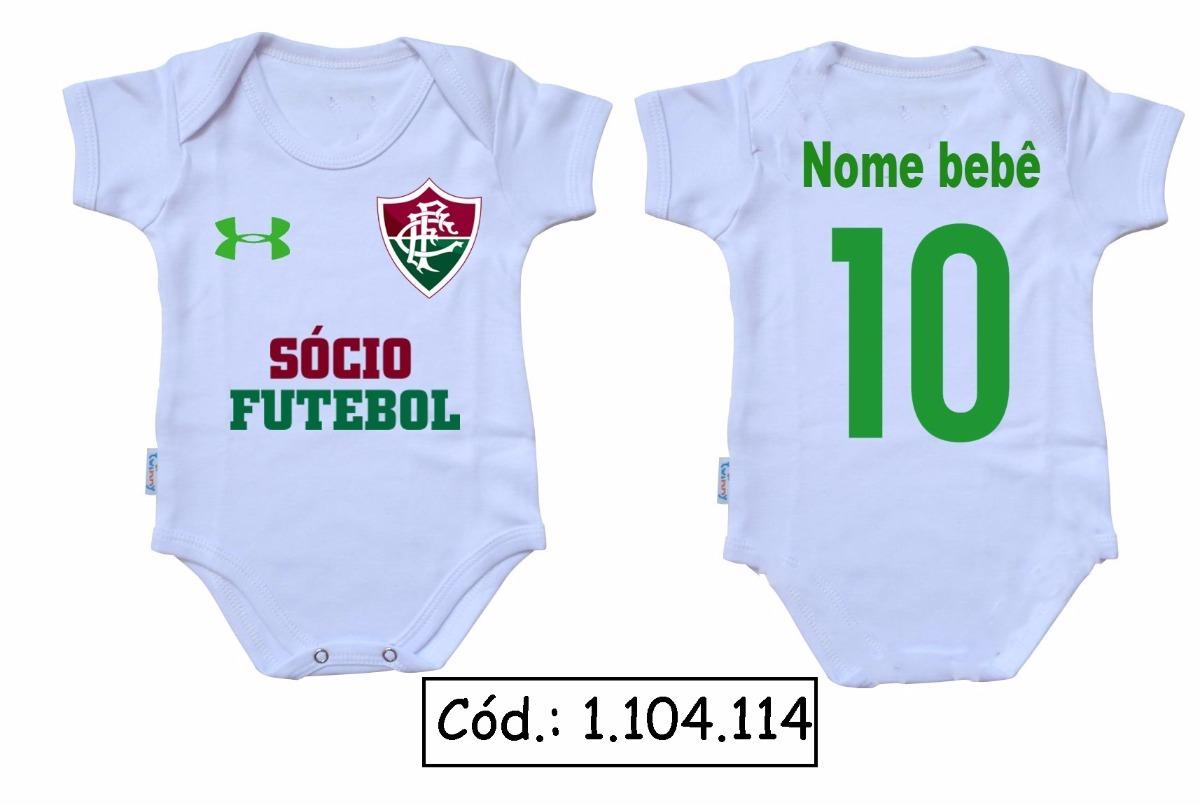 body bebê futebol fluminense uniforme oficial macacão. Carregando zoom. 8e387aaef9f73
