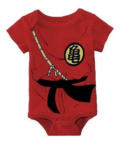 dd75d67141 Body Bebê Goku Dragon Ball Z Roupinha Fantasia Vermelha Mod2