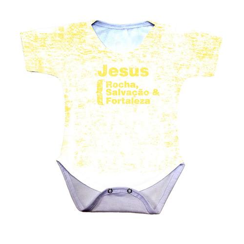 body bebê jesus rocha salvação e fortaleza azul