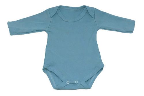 body bebê kit 5 peças manga longa liso 100% algodão