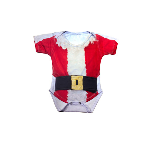 body bebê natal traje papai noel