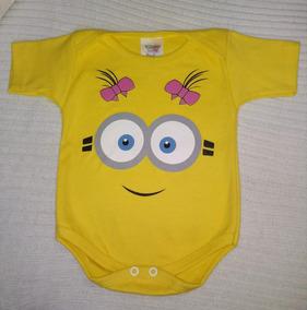 79ce93a4f Body Bebe Minions Menina - Bodies Curta Amarelo de Bebê no Mercado Livre  Brasil