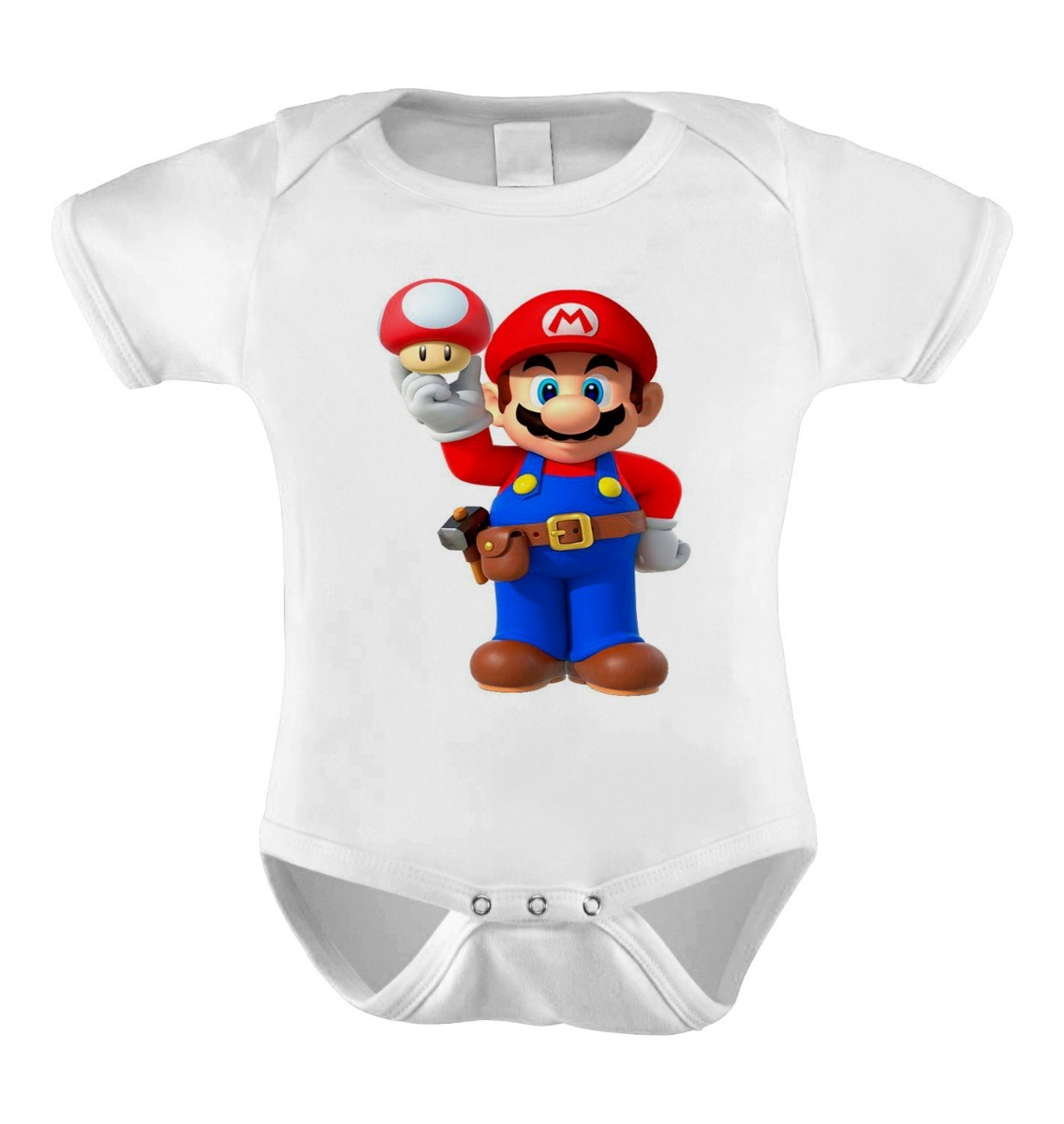 Body Bebê Personalizado Mário Yoshi Luigi Super Mário World - R$ 23 ...