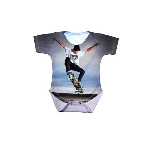 body bebê skate longboard ollie