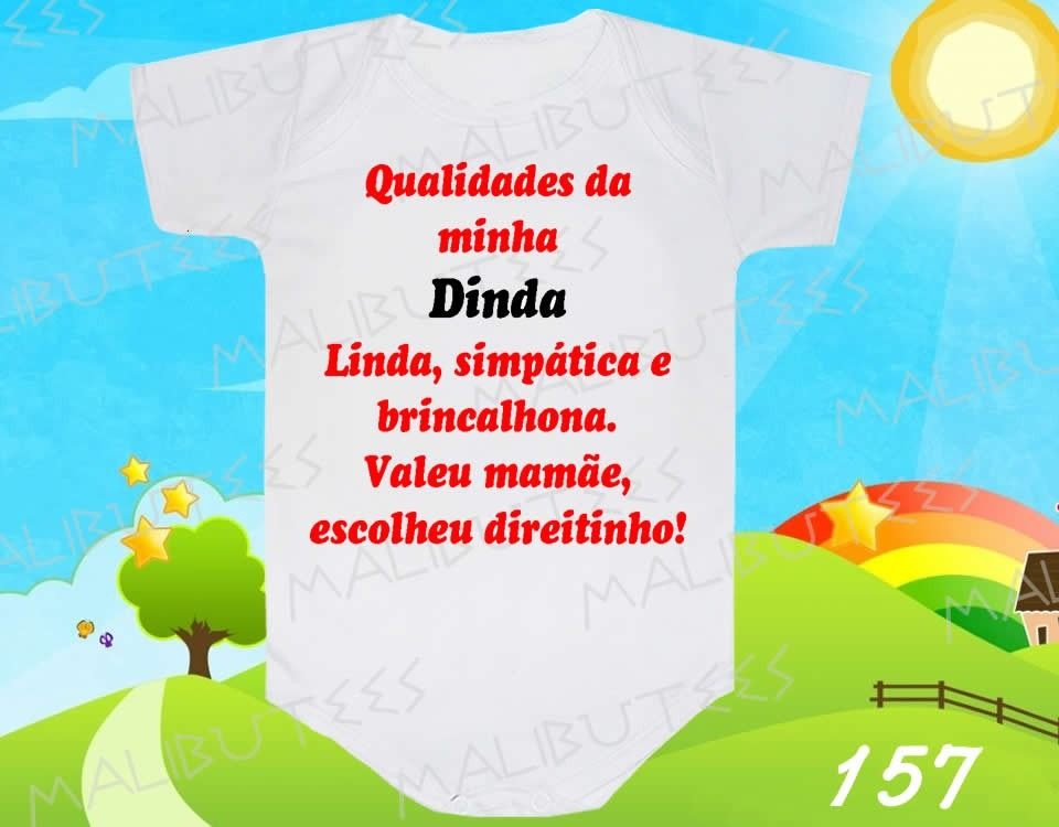 Body Bebe Dinda Linda Simpática Titia Dinda Frases Divertido R 29