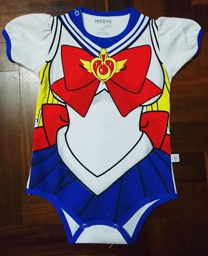 body bebe disfraz niña sailor moon algodón pima