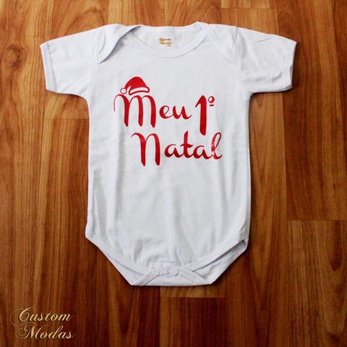 body bebe infantil meu primeiro natal