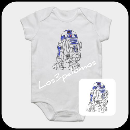 Body Bebe Star Wars Chubaca   R2d2  C3po   Geek   -   190 2fa38d9e379