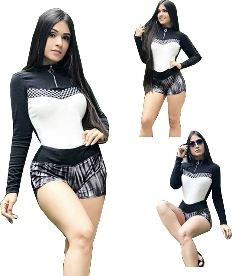 df66cc7477 body blusas femininas gola alta manga longa tendencia 2018. Carregando zoom.