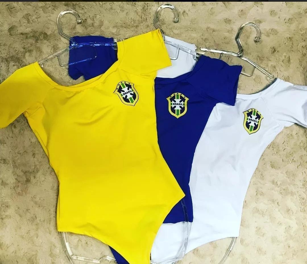 body blusinha copa do mundo brasil feminino varias cores. Carregando zoom. 8a213e80b03d5