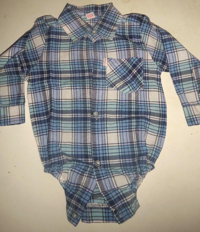 b557328c6 body camisa azul niño bebe cuadrille escoses manga larga. Cargando zoom.