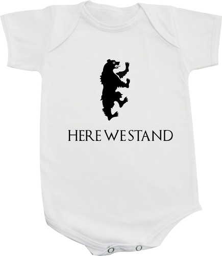body / camiseta game of thrones here we stand - mormont got