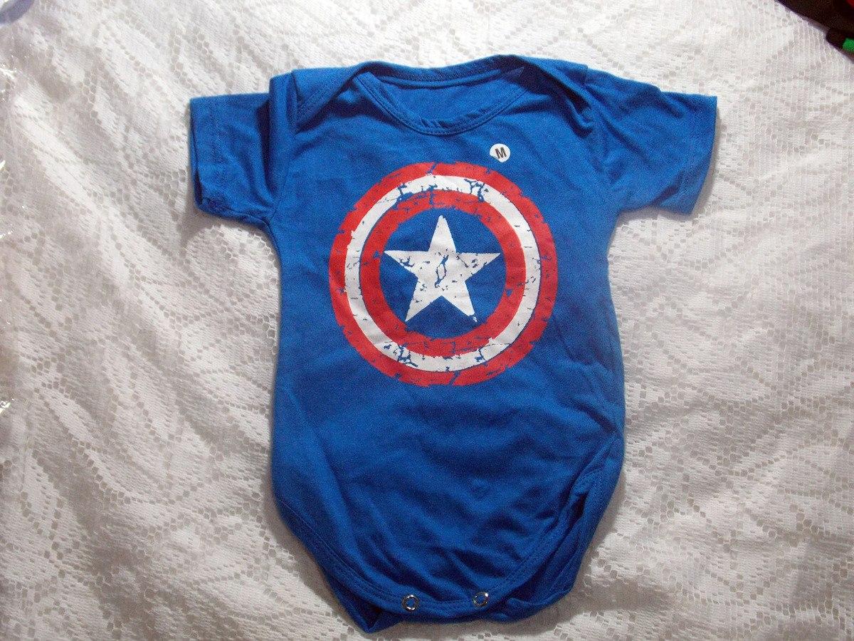 body capitão américa roupa de bebê super herói menino. Carregando zoom. b3e862e5956