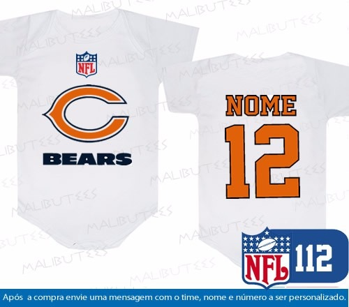 1bcf485c9b Body Chicago Bears Futebol Americano Time Personalizado - R  34