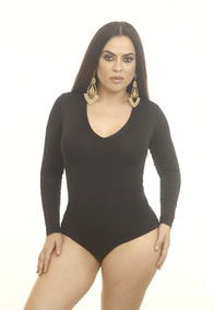 c0b207dda Body Decote V Manga Longa Feminino - Camisetas e Blusas no Mercado ...