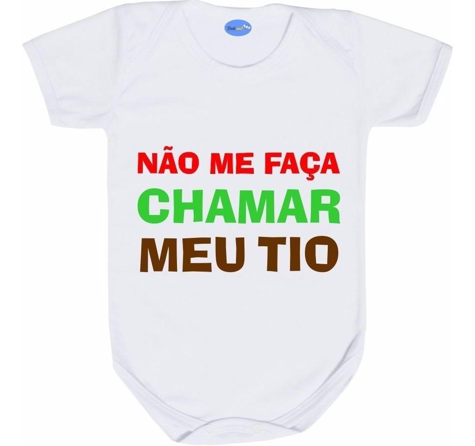 Body Com Frase De Tio Roupas De Bebê Divertidas Titio