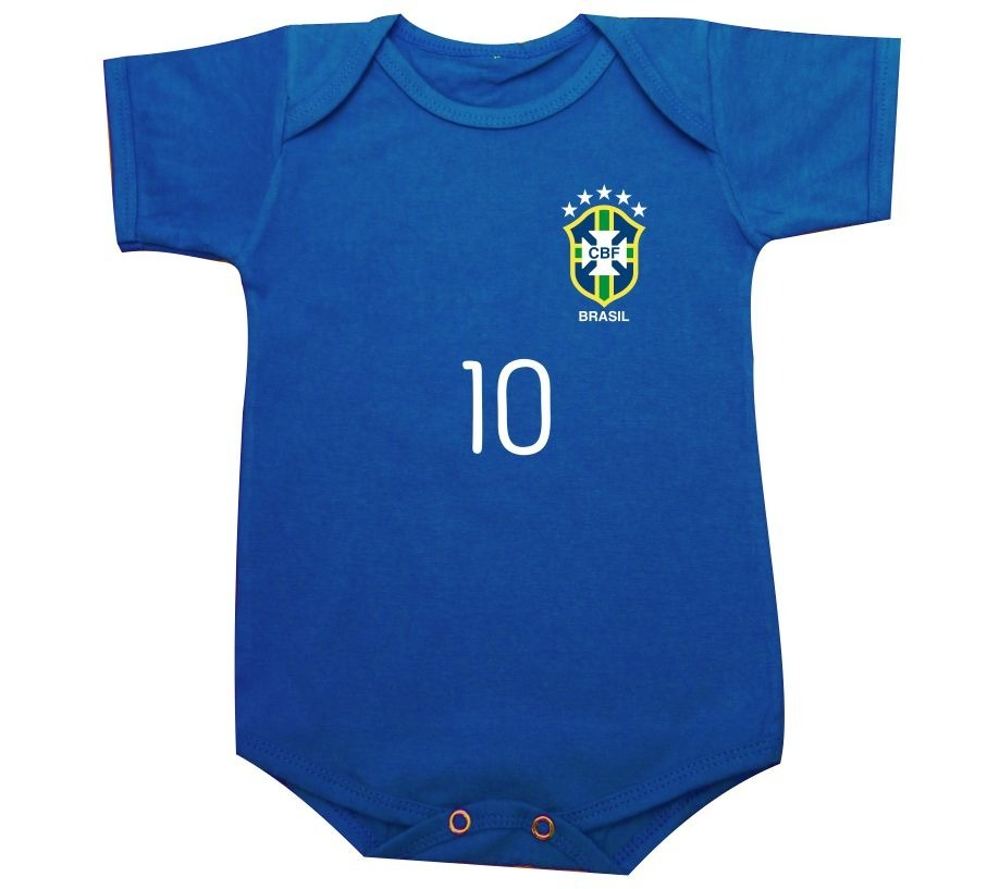 07fc979108 body da copa 2018 camisa 10 azul ou camiseta infantil russia. Carregando  zoom.