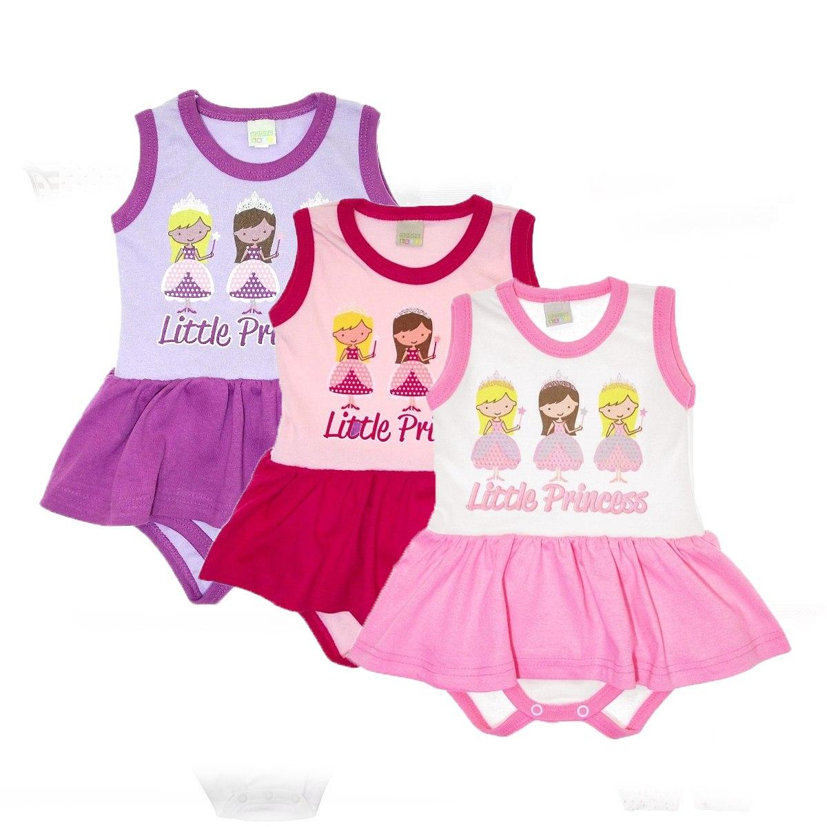 Body De Bebê Com Vestidinho Mais Barato Promoção - R  20,00 em Mercado Livre 566fd392ba