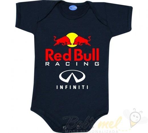 Body De Bebê Fórmula 1 Red Bull Roupa Bebê Red Bull Racing - R  45 ... ba60626fc2f