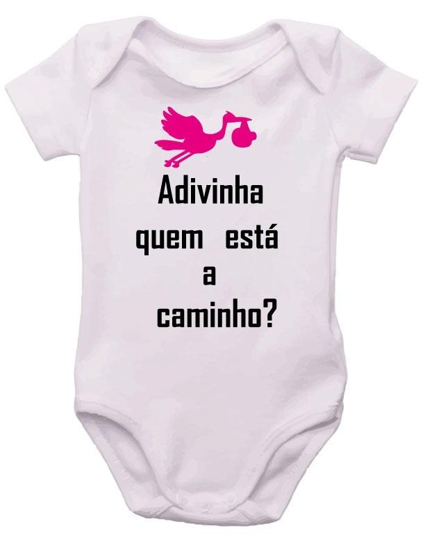 Body De Bebê Frases Adivinha Quem Esta Chegando R 2550 Em